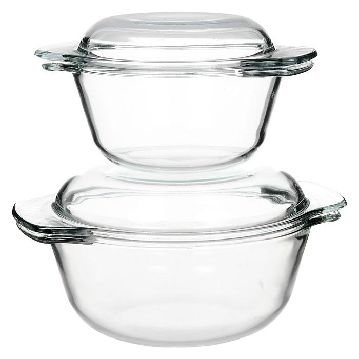 Набор кастрюль Unit из закаленного стекла, 2 предметаUCW-5100С набором кастрюль Unit, выполненный из закаленного стекла, вы всегда будете готовить вкусную и полезную пищу. Посуда из закаленного стекла обладает замечательными гигиеническими свойствами. Стекло совершенно инертно к любой пище и не дает никаких посторонних привкусов и запахов. Посуда торговой марки Unit функциональна и универсальна, изысканный дизайн и эргономичность в использовании превратят будничную обязанность в настоящее удовольствие и подвигнут вас на создание настоящих кулинарных шедевров. В набор входит 2 кастрюли с крышками. Основные достоинства предлагаемой кастрюли: посуда из закаленного стекла не поддается образованию накипи; в этой посуде можно хранить готовое блюдо; можно использовать в микроволновой, конвекционной печи и духовке; подходит для хранения продуктов в холодильнике и морозильной камере; можно мыть в посудомоечной машине; устойчива к температурам от -30°C до +250°C; идеально подходит для сервировки...