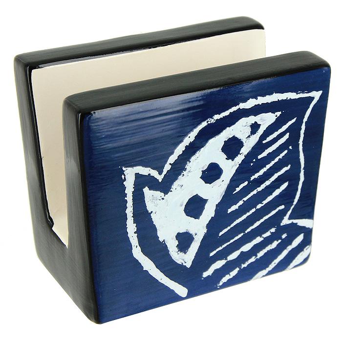 Салфетница Fratelli4607134436246Салфетница Fratelli, выполненная из высококачественной керамики, прекрасно подойдет для вашей кухни, она великолепно украсит стол. Салфетница декорирована рисунком в виде листочка. Салфетница придется по вкусу и ценителям классики, и тем, кто предпочитает яркий современный дизайн. Она станет отличным подарком для друзей и близких.