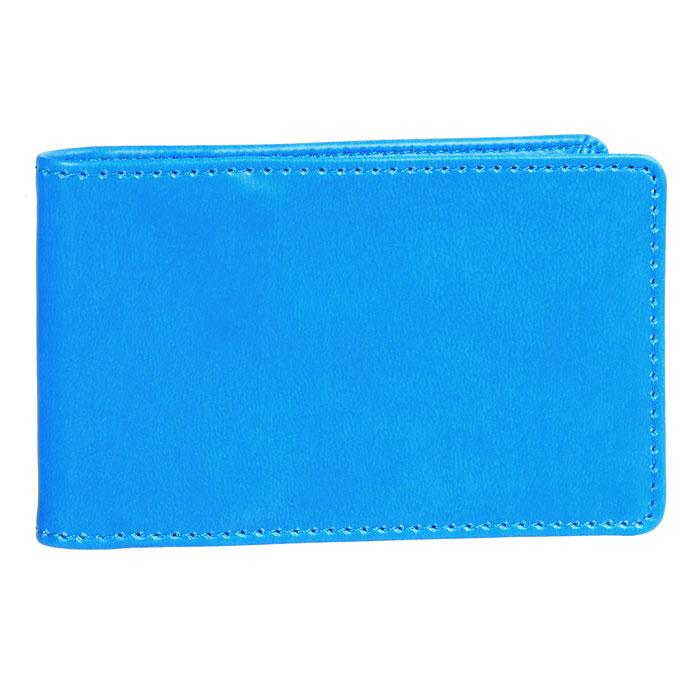 Визитница Skiver, цвет: голубой67964Компактная горизонтальная визитница Skiver - стильная вещь для хранения визиток. Обложка визитницы выполнена из высококачественной итальянской искусственной кожи с гладкой поверхностью. Внутри находится съемный блок с кармашками, рассчитанный на 14 визиток и четыре кармашка из кожи. Такая визитница станет замечательным подарком человеку, ценящему качественные и практичные вещи.