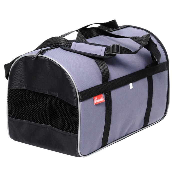 Текстильная сумка-переноска для кошек и собак мелких пород имеет твердое...