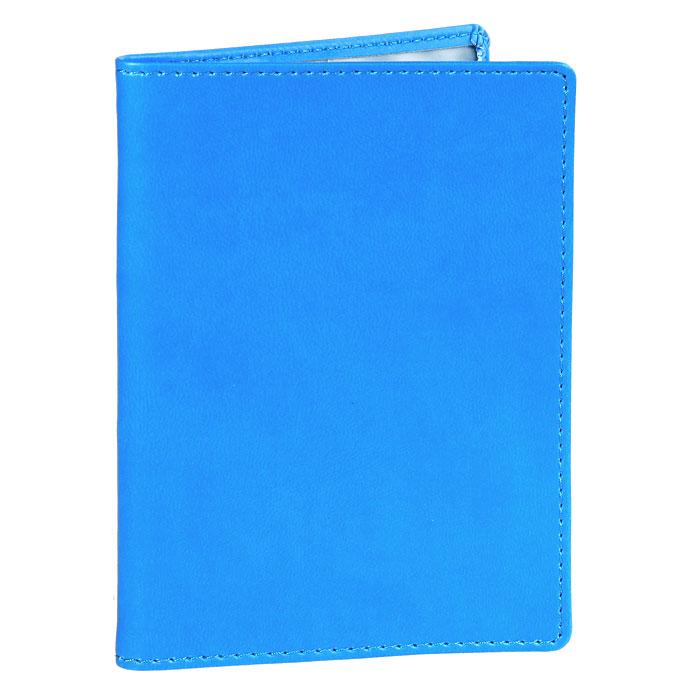 Обложка для паспорта Skiver, цвет: голубой67904Обложка для паспорта Skiver не только поможет сохранить внешний вид ваших документов и защитить их от повреждений, но и станет стильным аксессуаром, идеально подходящим вашему образу. Обложка выполнена из высококачественной итальянской искусственной кожи с гладкой поверхностью. На внутреннем развороте обложки есть шесть карманов из прозрачного пластика. Такая обложка станет отличным подарком для человека, ценящего качественные и необычные вещи.