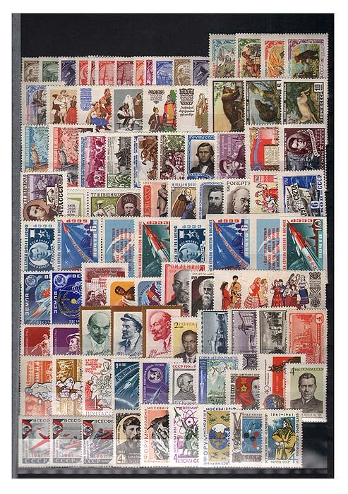 Годовой комплект марок за 1961 год, СССР131004Годовой комплект марок за 1961 год, СССР. Сохранность хорошая.