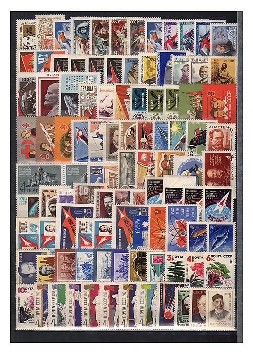 Годовой комплект марок за 1962 год, СССР, 100 шт131004Годовой комплект марок за 1962 год, СССР. Сохранность очень хорошая.