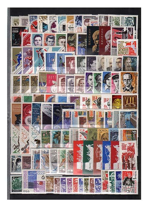 Годовой комплект марок за 1966 год, СССР131004Годовой комплект марок за 1966 год, СССР. Сохранность комплекта хорошая.
