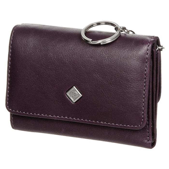 Портмоне Edmins, цвет: фиолетовый. 1505 ML/1N ED violet206525Портмоне Edmins выполнено из натуральной кожи фиолетового цвета. Внутри состоит из двух отделений для купюр, девяти отделений для кредитных карт или визиток, одного вертикального кармана для бумаг. На внешней стороне расположен карман на кнопке. Внутри карман разделен на два отсека, один из которых предназначен для мелочи, второй - оснащен металлической цепочкой с кольцом для крепления ключей. Портмоне закрывается широким клапаном на кнопку. Портмоне упаковано в фирменную коробку с логотипом фирмы. Характеристики: Материал: натуральная кожа, металл, текстиль. Размер портмоне: 11,5 см x 8 см х 2 см. Цвет: фиолетовый. Размер упаковки: 14 см x 10 см x 3,5 см. Производитель: Италия. Артикул: 1505 ML/1N ED violet.