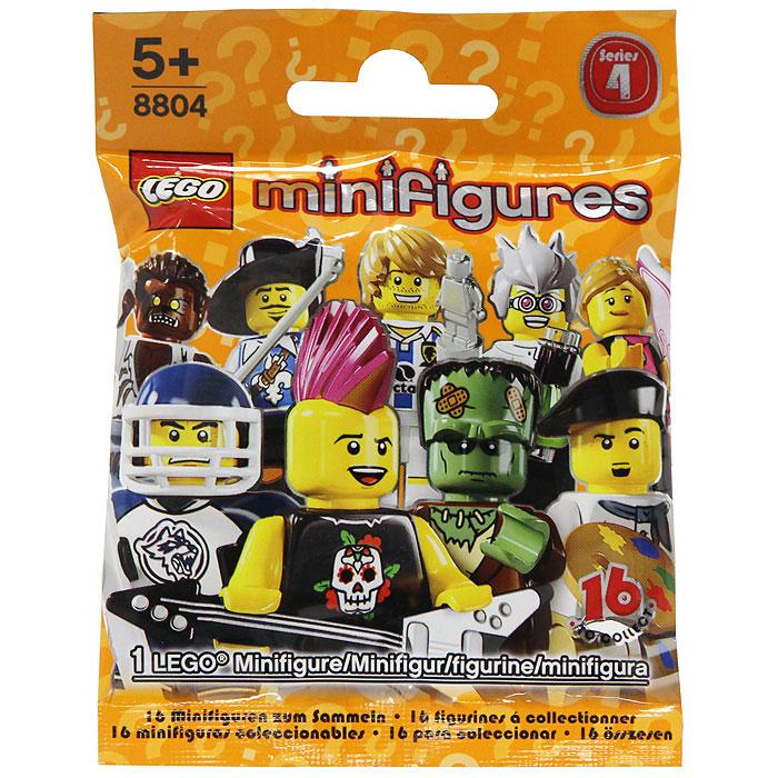 8804 Lego: Минифигуры, 4 выпуск, в ассортимете8804В запечатанном непрозрачном пакетике находится яркая фигурка жителя лего-городка, которая обладает своим характером, способностями и особенностями. Собрав коллекцию минифигурок, можно придумывать новые увлекательные сюжеты с уникальными персонажами. Характеристики: Комплектация: 1 фигурка. Размер упаковки: 11,5 см х 9 см. В процессе игры с конструкторами LEGO дети приобретают и постигают такие необходимые навыки как познание, творчество, воображение. Обычные наблюдения за детьми показывают, что единственное, чему они с удовольствием посвящают время - это игры. Игра - это состояние души, это веселый опыт познания реальности. Играя, дети создают собственные миры, осваивают их, восстанавливают прошедшие и будущие события через понарошку, а, познавая, приобретают знания и умения. Фантазия ребенка безгранична, беря свое начало в детстве, она позволяет ребенку учиться представлять в уме, она помогает ему выражать свою индивидуальность, творить, давать форму или...