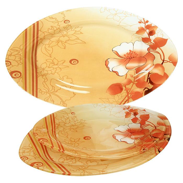 Набор блюд Zibo Красный цветок 3 шт S4501A-3-C0214601137037523Набор блюд Красный цветок выполнен из стекла и декорирован изображением яркого, но в тоже время и нежного цветка, на переходящем от светлого к темно-оранжевому фоне. Набор состоит из трех блюд разного размера, овальной формы. Такой набор непременно украсит ваш праздничный стол. Характеристики: Материал: стекло. Размер большого блюда: 35,5 см х 23,5 см. Размер среднего блюда: 30 см х 20,5 см. Размер малого блюда: 25 см х 17,5 см. Размер упаковки: 36 см х 24 см х 3,8 см. Производитель: Китай. Артикул: S4501A-3-C021.