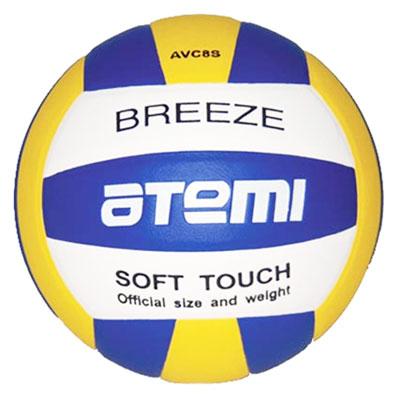 Мяч волейбольный Breeze. Цвет: синий, жёлтый, белый. AVC8SBREEZEВолейбольный мяч Breeze выполнен из синтетической кожи Super Top PU и имеет латексную камеру с добавлением бутила. Клееный волейбольный мяч предназначен для тренировок начинающих игроков, школьных тренировок и для игры в зале. По весу и размеру волейбольные мячи ATEMI соответствуют стандартам Международной Федерации Волейбола (FIVB). Характеристики: Длина окружности: 65-67 см. Вес мяча: 260-280 г. Рекомендуемое давление: 0,6-0,8 БАР. Материал: синтетическая кожа Super Top PU. Камера: латекс, бутил. Артикул: AVC8S. Производитель: Китай. Мяч поставляется в сдутом виде. Насос в комплект не входит.