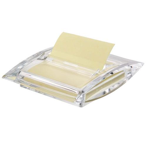 Диспенсер Info для бумаги для заметок Z-сложения, цвет: прозрачный564700Диспенсер Info станет не только незаменимым аксессуаром на рабочем столе, но и подчеркнет ваш стиль и индивидуальность. Выполнен из прозрачного акрила и предназначен для бумаги для записей Z-сложения размером 75 мм х 75 мм. Благодаря Z-сложению листочки из такого диспенсера легко извлекаются одной рукой и строго по одному.