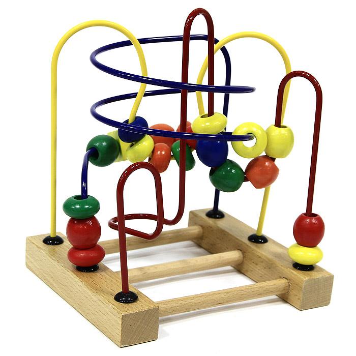 Развивающая игра Лабиринт №3Д072Яркий развивающий лабиринт №3 привлечет внимание вашего малыша и не позволит ему скучать. Лабиринт представляет собой прямоугольную подставку, к которой крепится изогнутая металлическая проволока. На проволоку нанизаны маленькие деревянные элементы разной формы и цвета, которые можно передвигать по проволоке. Игрушка поможет развить логическое мышление, пространственное воображение и мелкую моторику рук малыша. Характеристики: Материал: дерево, металл. Размер подставки: 16 см x 2 см x 13,5 см. Высота лабиринта: 18,5 см. Размер упаковки: 16 см x 18,5 см x 14 см.