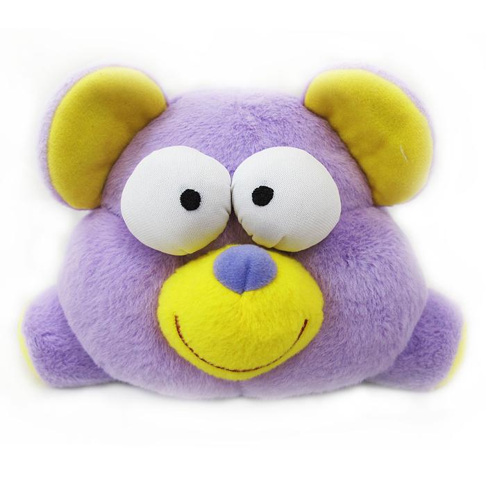 Мягкая интерактивная игрушка Woody OTime Медвежонок, цвет: фиолетовый, желтый, 15 смWT0102Woody OTime Медвежонок - яркая анимированная игрушка в виде забавного плюшевого медвежонка. При нажатии, хлопке или броске начинает хихикать, кружится и дрожать. Игрушка изготовлена из нетоксичных экологически чистых материалов, очень мягкая и чрезвычайно приятная на ощупь. После стирки не деформируется и не теряет внешний вид. Такая игрушка будет отлично смотреться в качестве оригинального веселого подарка и доставит массу положительных эмоций своему обладателю.