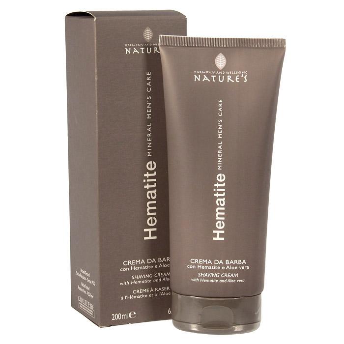 Крем для бритья Natures Hematite, 200 мл60260501Легкий крем для бритья Natures Hematite с пониженным пенообразованием обеспечивает гладкое скольжение лезвия для быстрого идеального бритья. Подходит для самой чувствительной кожи. Поддерживает мягкость кожи, предотвращая шелушение и раздражение. Содержит Гематит, стимулирующий выработку коллагена, гель алоэ вера и папаин, сдерживающий рост волос, и ментол, дающий ощущение свежести. Обладает антиоксидантным действием, препятствует преждевременному появлению морщин.