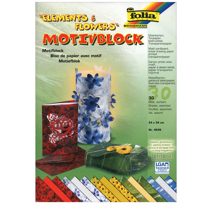 Набор дизайнерской бумаги Elements & Flowers, 30 листовF4649Лучшие подарки и открытки - те, которые сделаны своими руками. Шикарный набор декоративной бумаги с разнообразными яркими дизайнами предназначен для декорирования, скрапбукинга, создания подарков и открыток. В наборе 30 листов размером 24 х 34 см, в том числе, 10 листов плотностью 270 г/м2 в 5 дизайнах, 10 листов плотностью 115 г/м2 в 5 дизайнах, 10 однотонных листов плотностью 130 г/м2.