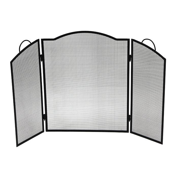 Экран для камина Банные штучки62021Экран для камина Банные штучки, выполненный из металла в виде трех решетчатых створок, прекрасно впишется в интерьер комнаты и станет изящным декоративным элементом. Каминный экран необходим для улучшения циркуляции воздуха, что помогает быстро и равномерно нагреть помещение. Также экран защит от искр и угольков, вылетающих из камина, тем самым предотвратит вероятность возникновения пожара или получения ожога. Такой стильный экран украсит камин, обеспечит безопасность и поможет вам создать в доме атмосферу уюта и комфорта.