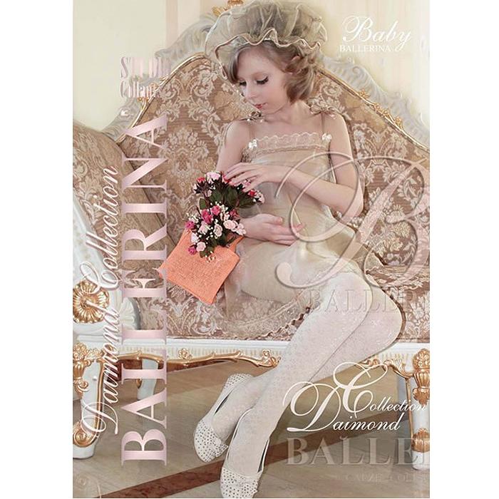 """Колготки для девочки """"Karletta"""", цвет: белый. Размер 5. Рост 134-146 см, 9-10 лет"""