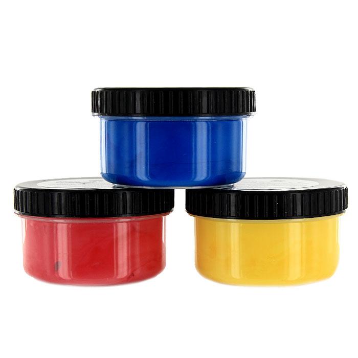 Пальчиковые краски 3цв х100мл желт+красн+синий129031Пальчиковые краски Nerchi на водной основе очень понравятся маленьким художникам. Ими можно рисовать не только на бумаге, но на картоне и стекле без каких либо дополнительных приспособлений. В наборе краски желтого, красного и синего цветов. Для производства красок используются консерванты, применяемые в пищевой и косметической промышленности. Они не токсичны, но содержат безвредное горькое вещество, для защиты от лизания и проглатывания. Легко отстирываются. Рисование пальцами обостряет детские ощущения и положительно влияет на настроение детей. Кроме того, развивает мелкую моторику, дает наиболее сильное восприятие цвета.