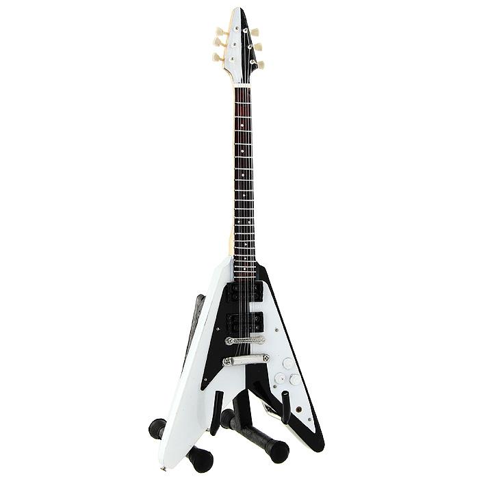 Коллекционная модель гитары Майкла Шенкера Flying V 1975. Масштаб 1:41022288Модель электрогитары Flying V 1975 знаменитого рок-музыканта Майкла Шенкера, представляет собой точную копию инструмента, выполненную в уменьшенном масштабе. Такой сувенир понравится не только поклоннику известного рок-музыканта, но и человеку, ценящему оригинальные вещи. Коллекционная модель станет оригинальным украшением интерьера. Благодаря специальной подставке вы можете поставить модель гитары в любом месте, где она будет удачно смотреться. Одним из многочисленных ценителей данной модели является Майкл Шенкер.