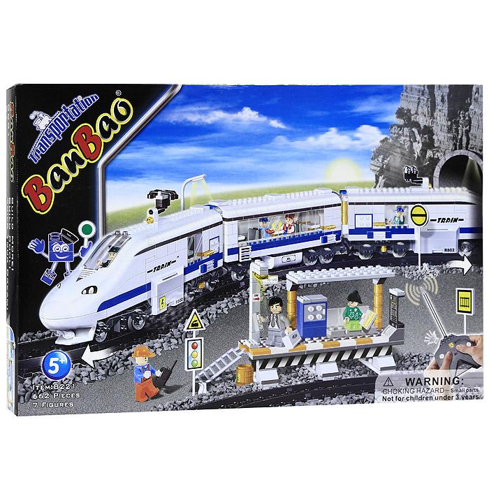 Конструктор Скоростной поезд, 662 элемента8221Яркий пластиковый конструктор Скоростной поезд привлечет внимание вашего ребенка и не позволит ему скучать. С помощью элементов конструктора ребенок сможет собрать радиоуправляемую модель скоростного поезда в мельчайших деталях, включая рельсы, станцию, вагон-ресторан, пассажирский вагон, локомотив и, конечно же, машиниста и пассажиров, а подробная иллюстрированная инструкция подскажет ребенку, как это сделать. Также в комплект входит пульт управления. Ребенок сможет часами играть с этим конструктором, придумывая разные истории и комбинируя детали. Собирая конструктор, ребенок научится соотносить форму и величину предметов, развивает воображение, фантазию, мелкую моторику, пространственное и логическое мышление. Характеристики: Длина поезда (в собранном виде): 160 см. Размер железной дороги: 155 см x 14 см. Размер упаковки: 60 см x 41 см x 8 см.