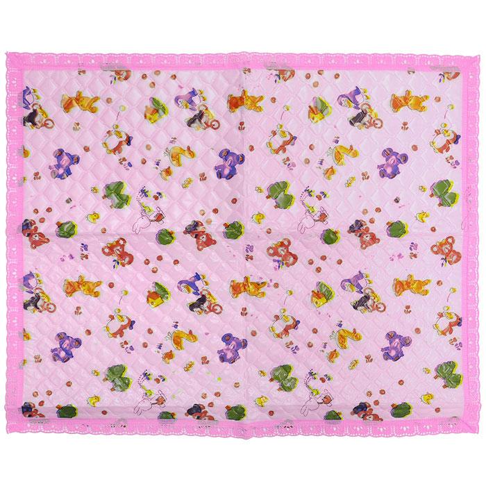 """Подстилка детская с окантовкой  """"Сказка """", непромокаемая, цвет: розовый..."""