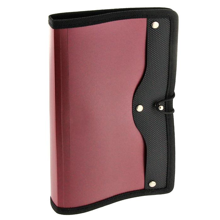 Визитница Index, на 120 визиток, цвет: розовато-лиловыйICH45/RDСовременная практичная и вместительная визитница в обложке розовато-лилового цвета предназначена для хранения и систематизации визитных кар. Визитница, выполненная из высококачественного полипропилена с тканевой окантовкой и застежкой-резинкой, рассчитана на 120 визиток.