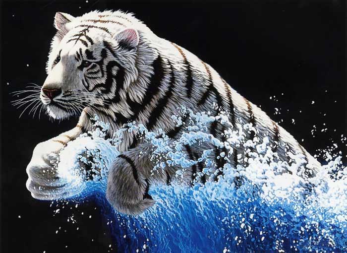 """Набор для вышивания """"Белый тигр"""", 62 х 49 см"""