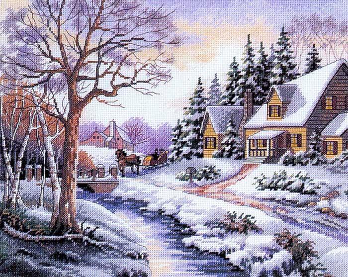 Набор для вышивания Зимняя улица, 48 x 38 смRY-1013-14Набор для вышивания крестом Зимняя улица состоит из схемы вышивки, канвы, ниток мулине для вышивания и двух специальных игл для вышивки с тупым концом и большим ушком. С помощью такого набора вы сможете создать своими руками очаровательный рисунок-вышивку, которая оригинально украсит интерьер вашего дома и станет прекрасным подарком для ваших друзей и близких.