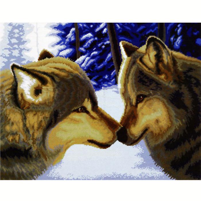 Набор для вышивания крестом Два волка, 55 см х 45 смRY-2862-14Набор для вышивания крестом Два волка состоит из схемы вышивки, канвы, ниток мулине для вышивания и двух специальных игл для вышивки с тупым концом и большим ушком. С помощью такого набора вы сможете создать своими руками очаровательный рисунок-вышивку, который оригинально украсит интерьер вашего дома и станет прекрасным подарком для ваших друзей и близких.