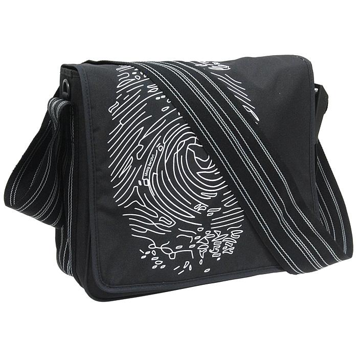 """Сумка-мессенжер Lassig """"Отпечаток пальца"""", цвет: черный LMB1010122"""