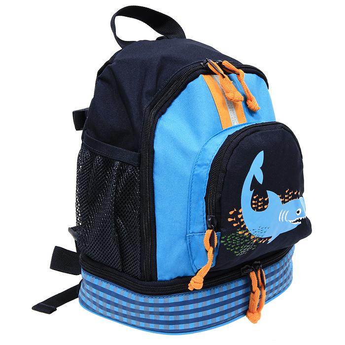 "Рюкзак Lassig  ""Акула "", цвет: синий Стильный рюкзак Lassig  ""Акула "" синего..."