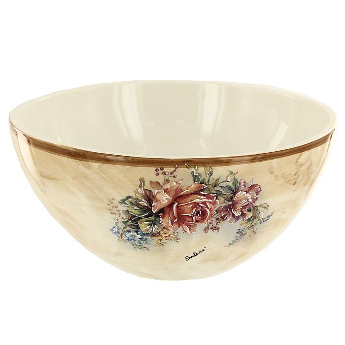 Салатник Элианто, диаметр 20 смLCS938-EL-ALСалатник Элианто, выполненный из керамики и оформленный оригинальным рисунком, станет незаменимым помощником на кухне. Салатник украсит сервировку вашего стола и подчеркнет прекрасный вкус хозяина. Оригинальный дизайн позволит сделать такой салатник отличным подарком на любой праздник.