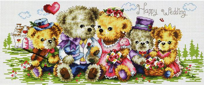 Набор для вышивания крестом Семейка медвежат, 55 см х 29 смRY-1708-14Красивый рисунок-вышивка, выполненный на канве, выглядит оригинально и всегда модно. В наборе для вышивания Семейка медвежат есть все необходимое для создания собственного чуда: канва, специальные нити, две иглы и схема рисунка. Работа, сделанная своими руками, создаст особый уют и атмосферу в доме, и долгие годы будет радовать вас и ваших близких. Ведь вы выполните вышивку с любовью!