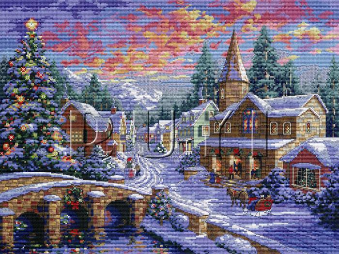 Набор для вышивания крестом Рождественская ночь, 56 х 45 смRY-2289-14Красивый и праздничный рисунок-вышивка, выполненный на канве, выглядит оригинально и всегда модно. В наборе для вышивания Рождественская ночь есть все необходимое для создания собственного чуда: канва, специальные нити, две иглы и схема рисунка. Работа, сделанная своими руками, создаст особый уют и атмосферу в доме, и долгие годы будет радовать вас и ваших близких. Ведь вы выполните вышивку с любовью!
