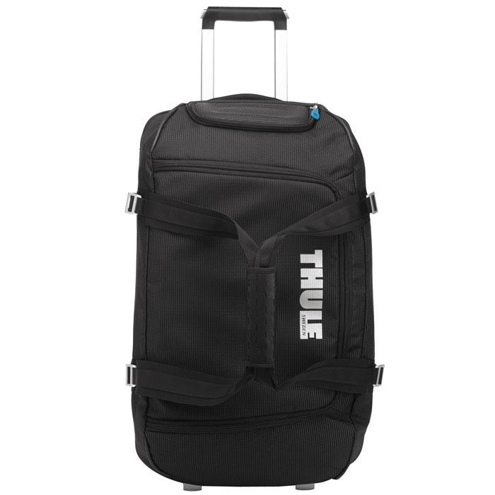 Сумка для багажа Thule, цвет: черный. TCRD-1TH_TR_TCRD-1Сумка для багажа Thule выполнена из нейлона черного цвета. Отлично подойдет для поездок. Особенности: Вместительная сумка с широко открывающейся застежкой-молнией для легкой укладки шлема, обуви, перчаток, куртки и других необходимых в путешествии вещей. Легкий прочный корпус из водонепроницаемого материала и алюминиевой фурнитуры; Жесткая конструкция и задняя панель из формованного полипропилена для надежной защиты от тряски и ударов; Регулируемые ремни сжатия размера сумки; Увеличенные колеса и телескопические ручки V-образной формы Thule V-Tubing гарантируют плавный равномерный ход и эксплуатацию сумки в течение многих лет; Разделенное на секции основное отделение позволяет хранить отдельно чистые/грязные, сухие/влажные вещи.