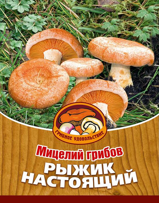 """Грибное удовольствие Мицелий грибов """"Рыжик настоящий"""", субстрат. Объем 60 мл 10018"""
