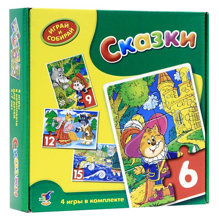 Комплект из 4 мозаик Сказки2076В комплекте мозаик Сказки вы найдете четыре мозаики с забавными изображениями, состоящие из 6, 9, 12 и 15 элементов. Игры-мозаики учат детей собирать простые картинки, подбирать детали по форме и изображению, способствуют развитию внимания, наблюдательности, наглядно-образного мышления, усидчивости и мелкой моторики рук.