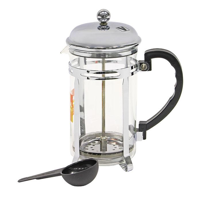 Кофеварка Vitesse Eliza, 600 млVS-1927Кофеварка Vitesse Eliza с фильтром френч-пресс займет достойное место на вашей кухне. Колба кофеварки изготовлена из термостойкого стекла, а фильтр френч-пресс из нержавеющей стали. К кофеварке прилагается пластиковая мерная ложечка. Изделие пригодно для мытья в посудомоечной машине. Настоящим ценителям натурального кофе широко известны основные и наиболее часто применяемые способы его приготовления: эспрессо, по-турецки, гейзерный. Однако существует принципиально иной способ, известный как french press, благодаря которому приготовление ароматного напитка стало гораздо проще. Метод french press прост: в теплый кофейник насыпают кофе грубого помола и заливают горячей водой. После того, как напиток настоится 3-5 минут, гущу отделяют поршнем с сеткой - и кофе готов! Эксперты считают, что такой способ позволяет получить максимально ароматный и нежный кофе - ведь он не перегревается, не подвергается воздействию высокого давления и не проходит через бумажный...