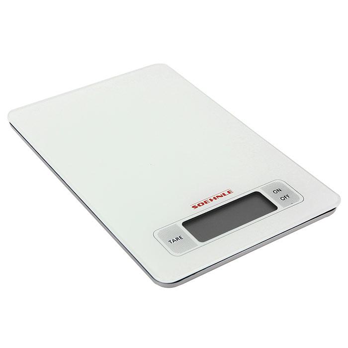 Весы кухонные электронные Page, цвет: белый66100Электронные кухонные весы Page придутся по душе каждой хозяйке и станут незаменимым аксессуаром на кухне: Сенсорная клавиатура обеспечивает легкое и приятное управление - достаточно мягкого прикосновения к клавишам. Очень легкая чистка стеклянной поверхности. Высокая нагрузочная способность (5 кг). Благодаря современной технологии Soehnle - высокая точность взвешивания (деления шкалы на 1 г). Практичная функция взвешивания (тара). Переключение между граммами и фунтами. Энергосберегающее автоматическое выключение.