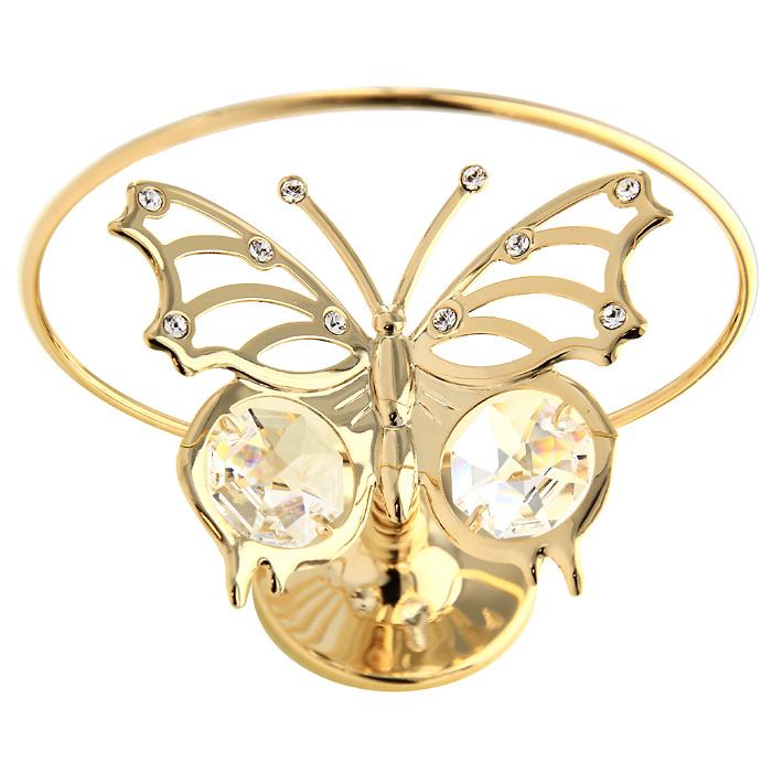 Настольный сувенир вращающийся Летящая бабочка, цвет: золотистый, 7 смU0003-103-GC1Настольный вращающийся сувенир Летящая бабочка, украшен прозрачными кристаллами Swarovski. Сувенир изготовлен из высококачественной стали. Оригинальный сувенир будет отличным подарком для ваших друзей и коллег. Более 30 лет компания Crystocraft создает качественные, красивые и изящные сувениры, декорированные различными кристаллами Swarovski. Характеристики: Материал: сталь, кристаллы Swarovski. Высота: 7 см. Размер коробки: 7,5 см х 10 см х 5 см. Артикул: U0003-101-GC1. Производитель: Китай.