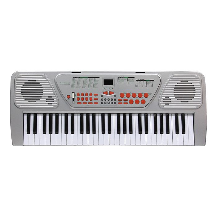Синтезатор DoReMi, 54 клавиши, с микрофоном. D-00008D-00008Яркий синтезатор DoReMi привлечет внимание малыша и доставит ему много удовольствия от часов, посвященных игре с ним. Синтезатор имеет 54 музыкальных клавиши и множество кнопок, позволяющих добавлять различные звуковые эффекты при составлении мелодий, менять темп и ритм музыки: 100 тембров, 100 ритмов, 4 ударных,31 уровень темпа, 16 уровней управления громкостью. На синтезаторе можно составить собственные мелодии, записать их и прослушать. В комплект с синтезатором входит микрофон. С помощью этого синтезатора ребенок сможет развить свои музыкальные способности и порадовать друзей и близких великолепным концертом. Порадуйте его таким замечательным подарком! Синтезатор может работать от сетевого адаптера или от 6 батареек типа АА.