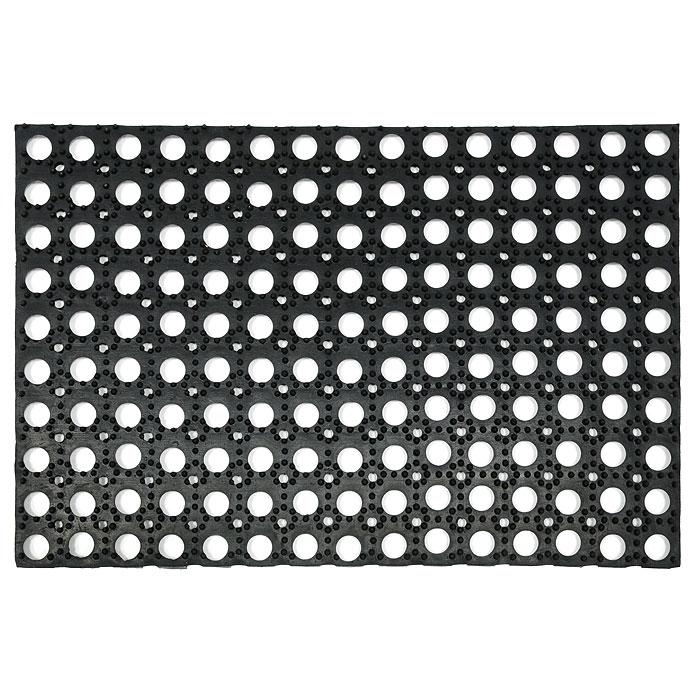 Коврик придверный Vortex, грязесборный, 40 х 60 см20001Придверный ячеистый коврик Vortex изготовлен из прочной и долговечной резины. Конструкция коврика имеет специальные ребра, которые помогают более эффективно удалять грязь с обуви, а отверстия в конструкции удаляют излишки воды. Придверный коврик Vortex надежно защитит помещение от уличной пыли и грязи.