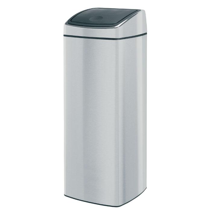 Бак мусорный Brabantia Touch Bin, прямоугольный, с защитой от отпечатков пальцев, цвет: матовая сталь, 25 л384929Ищите решение для рационального использования пространства в ванной комнате? Решение – прямоугольный Touch Bin на 25 литров. Поставить на пол или прикрепить к стене – решать вам! Бесшумное открывание/закрывание крышки легким касанием – система soft touch; Компактный бак – удобно устанавливается вплотную к стене или в угол; Может устанавливаться на пол или крепиться на стену – поставляется с крепежным кронштейном; Удобная очистка – прочное съемное внутреннее ведро из пластика; Широкое загрузочное отверстие и большая вместимость – идеально подходит для сбора пустых бутылок из-под шампуня и т.п.; Всегда опрятный вид – идеально подходящие по размеру мешки для мусора с завязками (размер C); 10-летняя гарантия Brabantia.