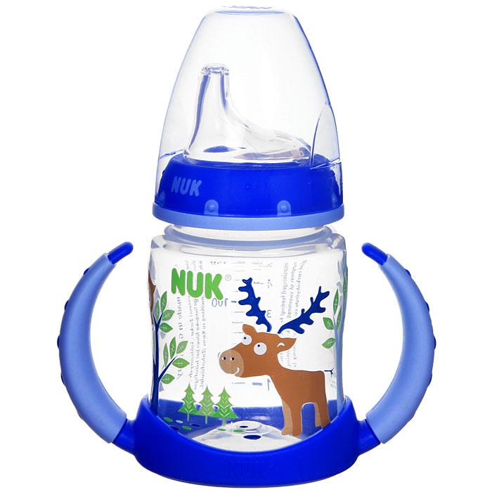 Бутылочка-поильник NUK First Choice, с силиконовым носиком, в ассорт. 150 мл, от 6 месяцев