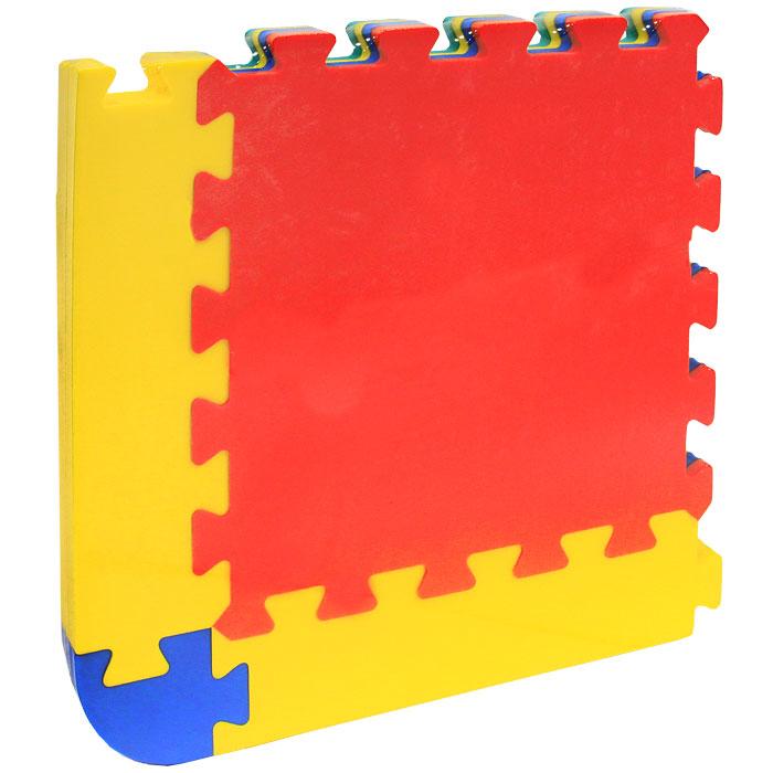 Коврик-пазл Флексика, 4 элемента45423Коврик-пазл Флексика надолго займет внимание вашего малыша. Пазл состоит из 4 разноцветных плиток различной формы. Игры с ковриком-пазлом Флексика способствуют развитию у малышей мелкой моторики рук, тактильных ощущений, фантазии, способности анализировать и сопоставлять детали, знакомится с понятиями формы, размера и цвета предмета. Коврик-пазл выполнен из экологически безопасного полимерного материала, обладающего большой плотностью, высоким сопротивлением нагрузкам на разрыв и сгиб, теплоизоляционными качествами и способностью сохранять форму и гибкость при охлаждении. Это обеспечивает комфорт и удобство в использовании в виде напольного покрытия в детской и ванной комнате, в спортивном зале.