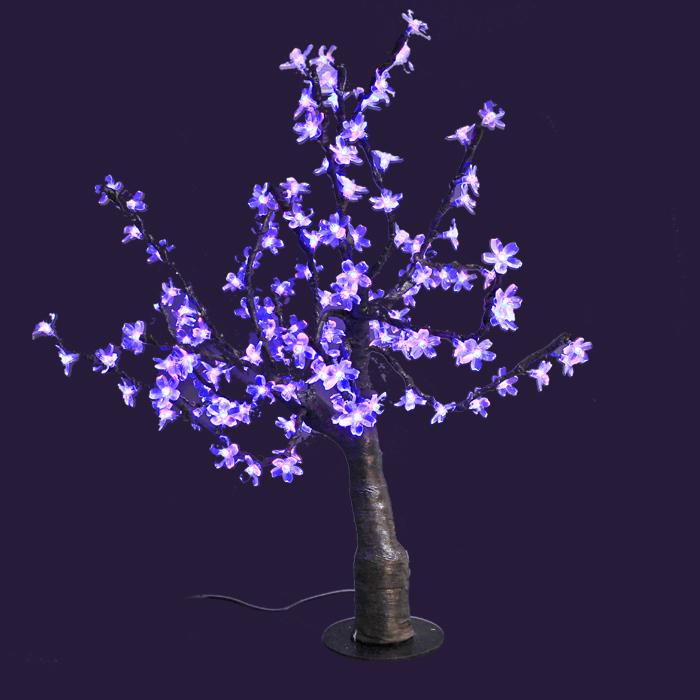 Светодиодное дерево Сакура, цвет: мультиколорLED-T-MСакура - это не просто дерево. Это дерево - символ удачи, любви, красоты и юности. Светодиодное дерево Сакура представляет собой имитацию цветущей японской сакуры. Оно используется для декоративного освещения интерьеров и ландшафтов. Такое дерево с переливающимися огоньками может стать прекрасным украшением для вашего дома, офиса, торгового зала, кафе ресторана или загородного участка. Оно создаст уют и придаст оригинальный стиль и необходимый вам колорит независимо от времени года. Конструкция имеет лекгосплавной каркас в оболочке из темного пластика. На ветках дерева расположены яркие светодиодные гирлянды (переливающиеся и меняющие цвет) с силиконовыми насадками (цветками). Светодиодное дерево выглядит очень натурально. Питание осуществляется через сетевой трансформатор, поэтому изделие является низковольтным и может использоваться в уличных условиях. В комплект также входит пульт дистанционного управления.