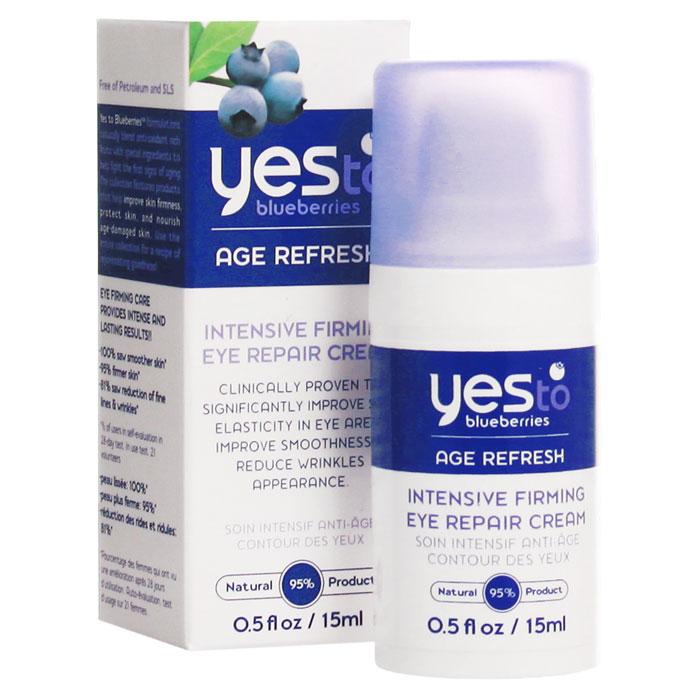 Крем Yes To Blueberries Восстановление молодости, интенсивный, укрепляющий, для контура глаз, 15 мл