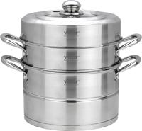 Пароварка Vitesse, 4 предмета. VS-2007VS-2007Пароварка Vitesse станет незаменимым помощником на вашей кухне. Она предназначена для приготовления здоровой пищи на пару. Такой способ приготовления продуктов сохраняет в них полезные витамины и минералы. Пароварка состоит из нижней кастрюли, кастрюля с отверстиями и крышки. Кастрюли изготовлены из высококачественной нержавеющей стали 18/10. Многослойное термоаккумулирующее дно обеспечивает равномерное распределение тепла по поверхности посуды. Удобные металлические ручки надежно крепятся к корпусу кастрюль. Крышка, выполненная из термостойкого стекла, позволит наблюдать за процессом приготовления пищи. Также крышка снабжена металлическим ободом. Пароварка Vitesse подходит для использования на всех типах кухонных плит, включая индукционные, также изделие можно мыть в посудомоечной машине.