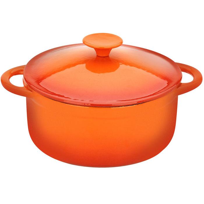 Кастрюля Vitesse Аrie|, цвет: оранжевый, 4,0 лVS-1582Кастрюля Vitesse Ariel идеально подходит для приготовления вкусных тушеных блюд. Кастрюля изготовлена из традиционного чугуна. Толстое дно хорошо проводит тепло, а чугунная крышка сохраняет ароматы. Эмалированная внешняя поверхность оранжевого цвета придает кастрюле нотки благородности и изысканности. Известно, что пища, приготовленная в чугунной посуде, сохраняет свои вкусовые качества, и благодаря экологической чистоте материала, не может нанести вред здоровью человека. Долговечность - еще одно преимущество чугунной посуды. Приобретая чугунную кастрюлю Ariel, вы можете быть уверены, что она прослужит вашей семье достаточно долгий срок. Кастрюля подходит для всех типов плит. В комплекте к кастрюле дополнительно прилагаются две прихватки!