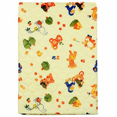 """Подстилка детская  """"Сказка """", непромокаемая, цвет: желтый, 43 см х 53 см."""