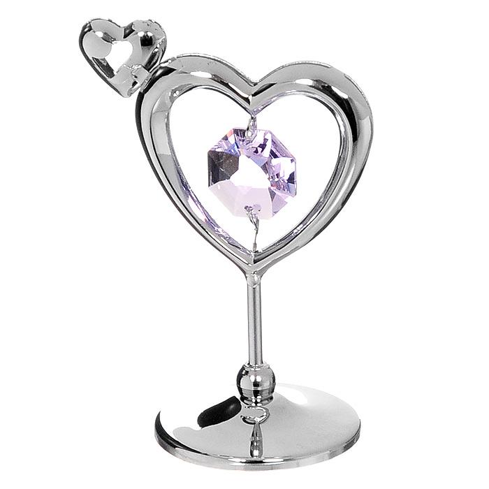 Миниатюра Сердечко, цвет: серебристый, 5,5 смU0229-001-CVLМиниатюра Сердечко серебристого цвета станет необычным аксессуаром для вашего интерьера и создаст незабываемую атмосферу. Кристаллы, украшающие сувенир, носят громкое имя Swarovski. Ограненные, как бриллианты, кристаллы блистают сотнями тысяч различных оттенков. Эта очаровательная вещь послужит отличным подарком близкому человеку, родственнику или другу, а также подарит приятные мгновения и окунет вас в лучшие воспоминания.