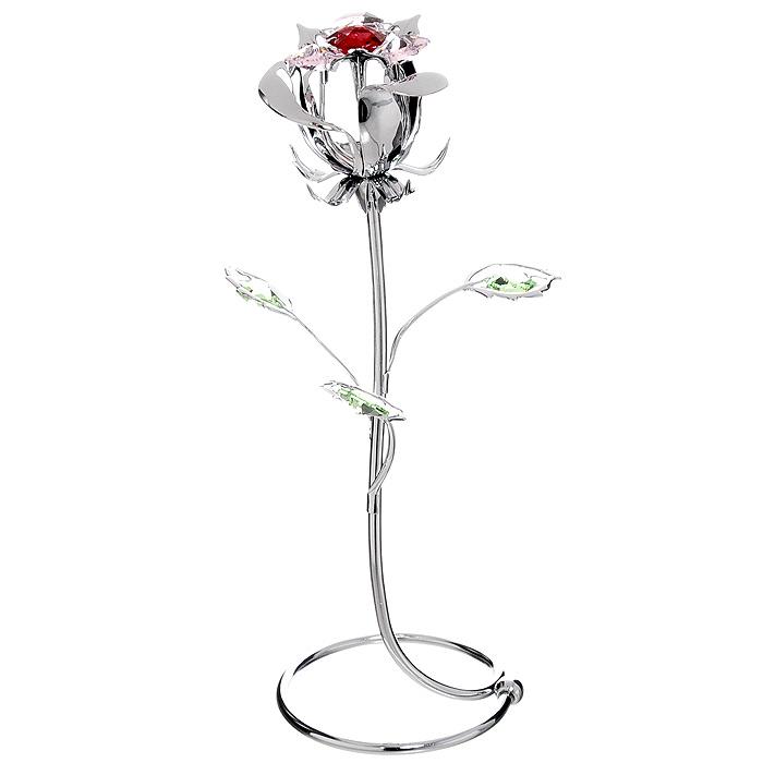 Миниатюра Роза, цвет: серебристый, 18 смU0354-159-CREМиниатюра Роза серебристого цвета, станет необычным аксессуаром для вашего интерьера и создаст незабываемую атмосферу. Кристаллы, украшающие сувенир, носят громкое имя Swarovski - ограненные, как бриллианты, кристаллы блистают сотнями тысяч различных оттенков. Эта очаровательная вещь послужит отличным подарком близкому человеку, родственнику или другу, а также подарит приятные мгновения и окунет Вас в лучшие воспоминания. Характеристики: Материал: металл, австрийские кристаллы. Высота миниатюры: 18 см. Цвет: серебристый. Изготовитель: Китай. Артикул: U0354-159-CRE. Более чем 30 лет назад компания Crystocraft выросла из ведущего производителя в перспективную торговую марку, которая задает тенденцию благодаря безупречному чувству красоты и стиля. Компания создает изящные, качественные, яркие сувениры, декорированные кристаллами Swarovski различных размеров и оттенков, сочетающие в себе превосходное мастерство обработки металлов и самое...